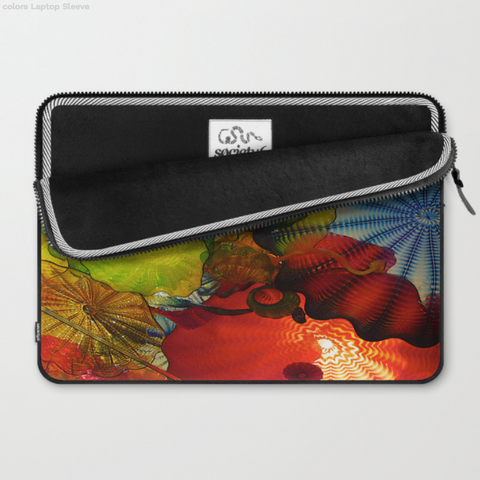 Image of Laptop Sleeve - Glass colours of Dale Chihuly