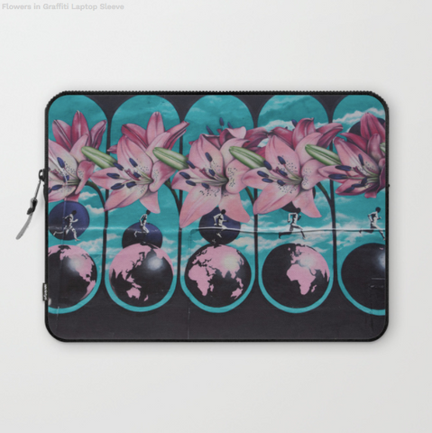 Laptop Sleeve - Nice Flowers In Graffiti - Ordinateur Portable