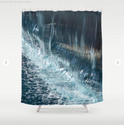 Shower Curtain - Waterfalls in Quebec