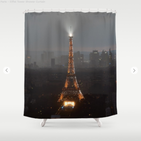 Shower Curtain - Eiffel Tower From Paris - Shower Curtain