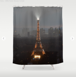 Shower Curtain - Eiffel Tower from Paris