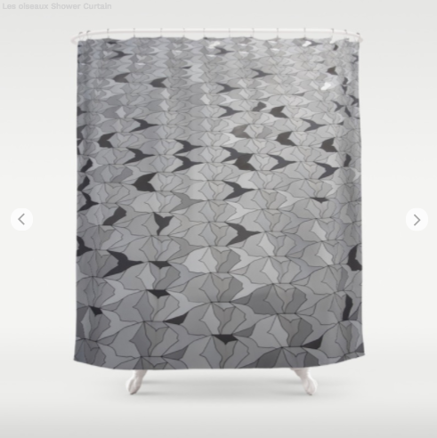 Shower Curtain - Birds On Concert Hall In Paris - Shower Curtain