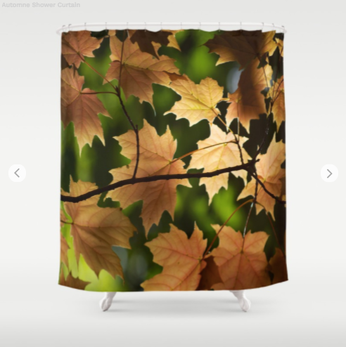 Shower Curtain - Maple Leafs In Autumn - Shower Curtain