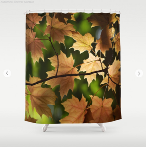 Shower Curtain - Maple leafs in autumn