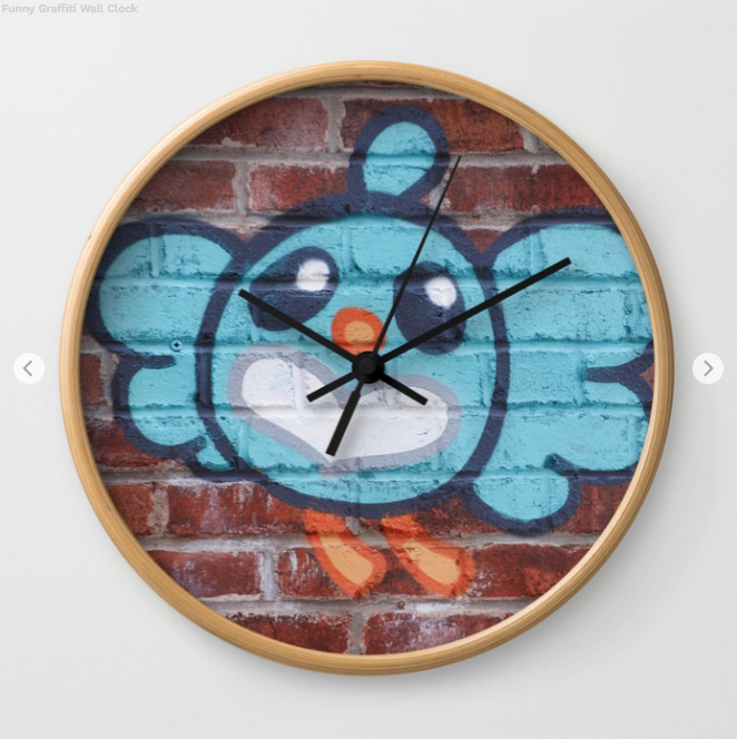 Wall Clock - Funny Graffiti In Montreal - Wall Clock