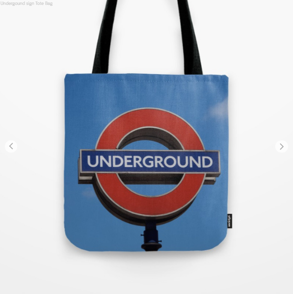 Tote Bag - Underground Sign In London, Royaume-Uni - Tote Bag