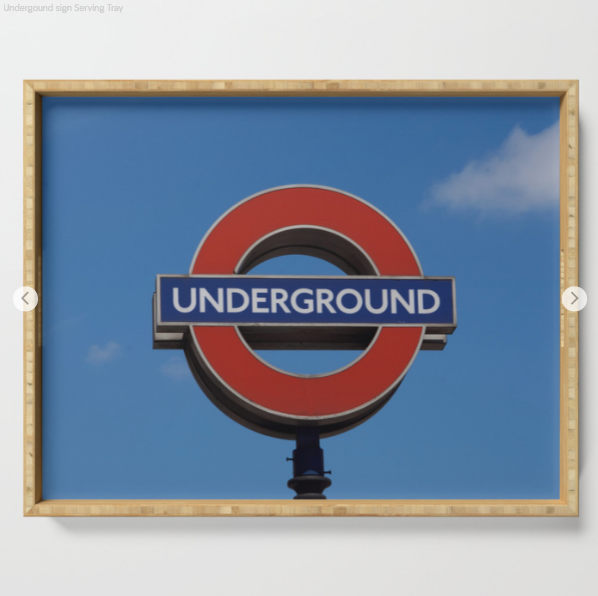 Serving Tray - Underground Sign In London - Serving