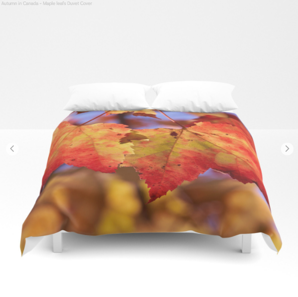 Duvet Cover - Autumn in Canada with Maple leafs