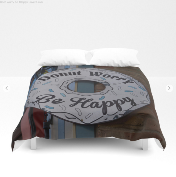 Duvet cover - Donut worry be Happy