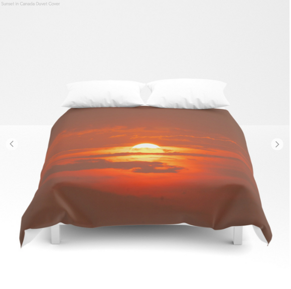 Duvet cover - Sunset in Canada