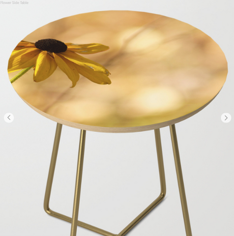 Side table - A flower on the table