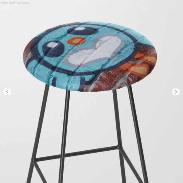 Bar Stools - Funny Face - Graffiti - Bar Stools