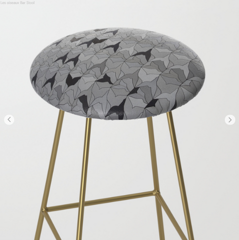 Image of Bar Stools - Birds In Paris - Bar Stools