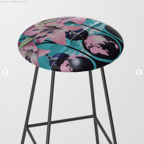 Bar Stools - Flowers - Bar Stools