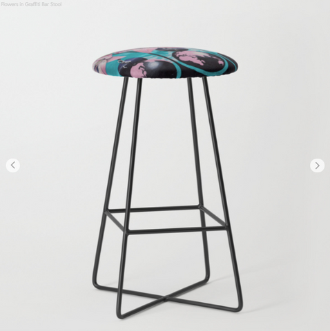 Image of Bar Stools - Flowers - Bar Stools