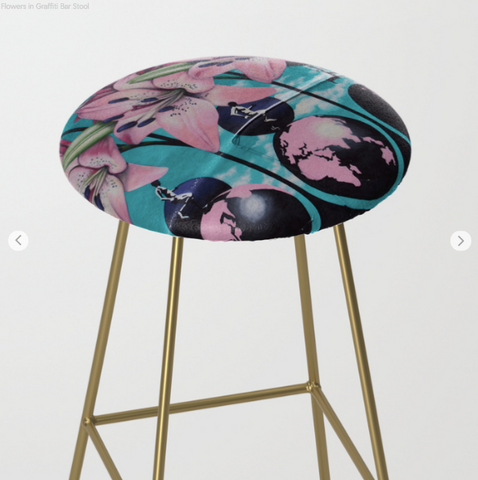 Bar Stools - Flowers
