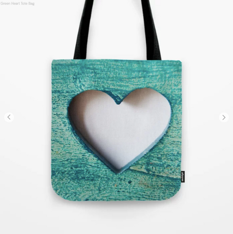 Image of Tote Bag - Green Heart - Tote Bag