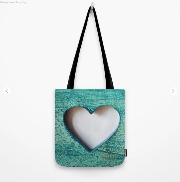 Tote Bag - Green Heart - Tote Bag