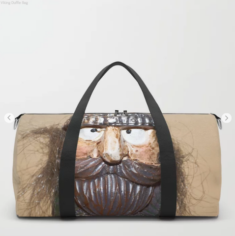 Image of Duffle Bag - Viking In Iceland - Duflfe Bag