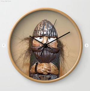 Wall clock - Viking in Iceland