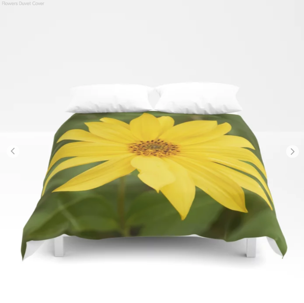 Duvet Cover - nice yellow flowers background