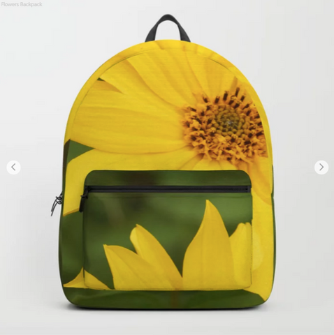 Backpack - Nice yellow flowers in Canada