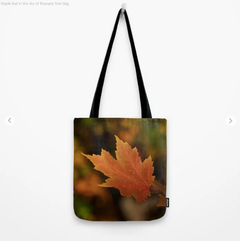 Image of Tote Bag - Maple Leaf In The Sky Of Canada - Tote Bag