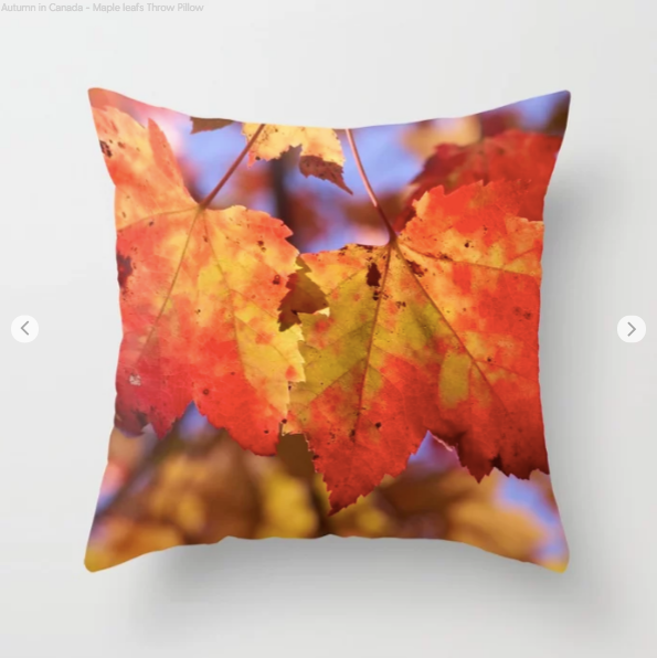 Autumn In Canada With Maple Leafs - Decorative Throw Pillows - Throw Pillow