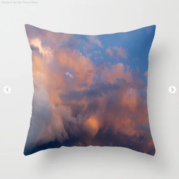 Clouds In The Sky - Decorative Throw Pillows - Throw Pillow