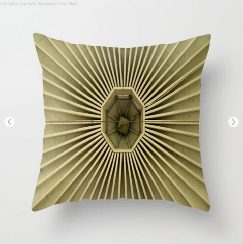 A Roof In Downtown In Longueuil - Throw Pillow - Throw Pillow