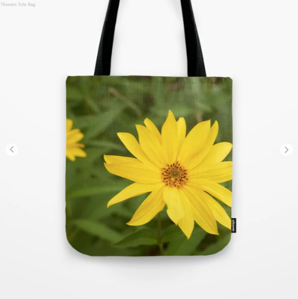 Tote Bag - Nice Yellow Flowers - Tote Bag