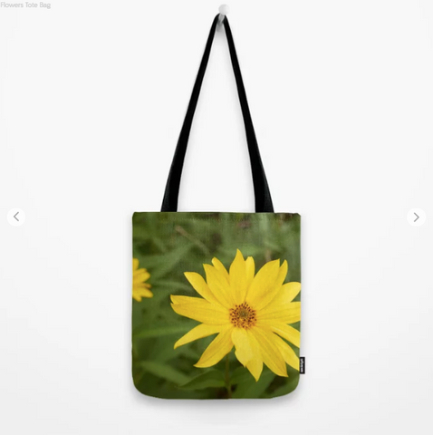 Image of Tote Bag - Nice Yellow Flowers - Tote Bag
