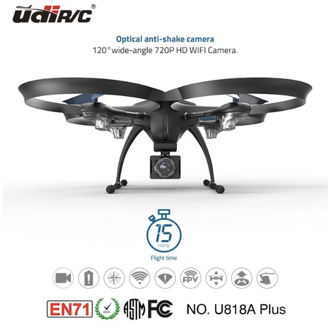 Drone U818A-PLUS  - Camera wide angle + Wifi