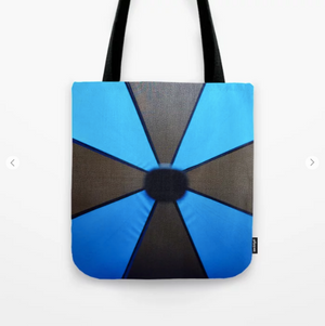 Tote Bag - Black And Blue Umbrella - Tote Bag