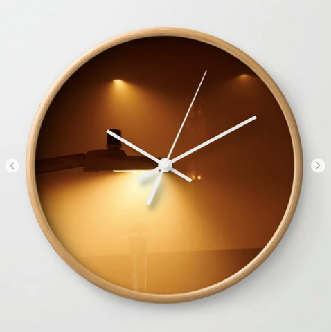 Wall Clock - Foggy Night In #montreal Nord - Wall Clock