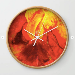 Wall clock - Her name is Iris by Ans Duin