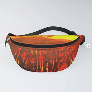 Wood end of the day by Ans Duin - Fanny Pack