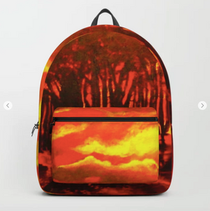 Backpack - Wood end of the day by Ans Duin