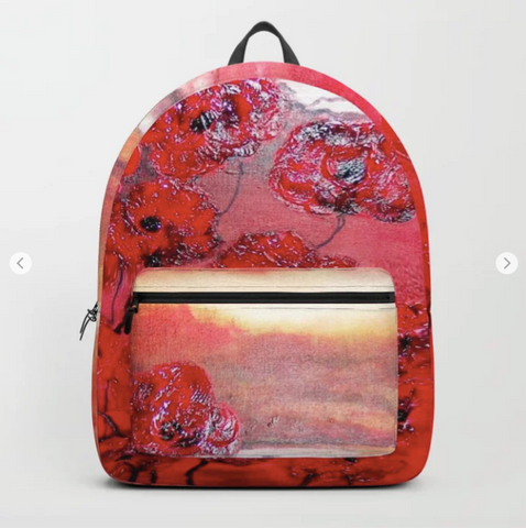 Backpack - Hot sunset, bloemen in hars gegoten by Ans Duin
