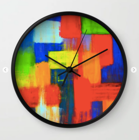 Image of Wall clock - Blokkendoos by Ans Duin