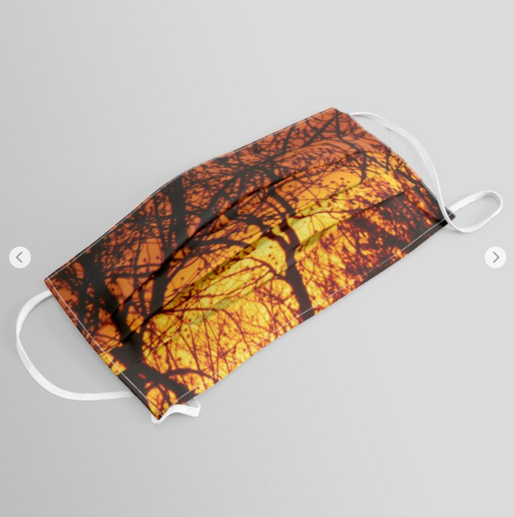 Original Face Mask - Sunset on Trees - Unique design