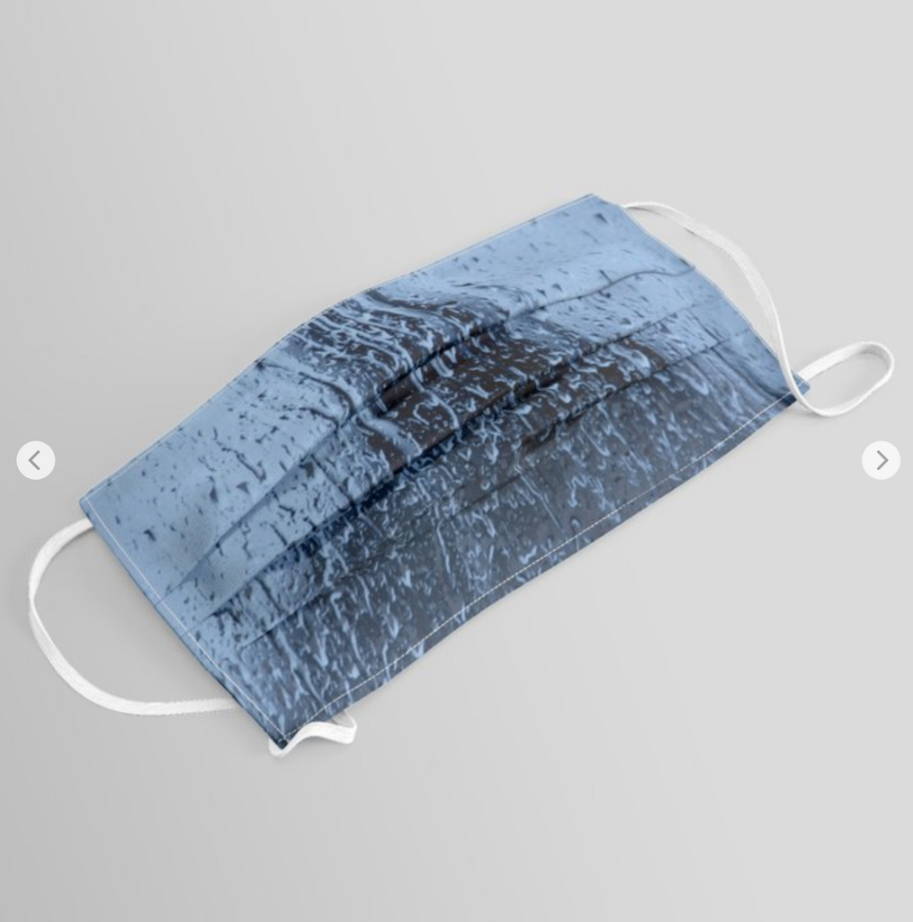 Original Face Mask - A blue rainy day - Unique design