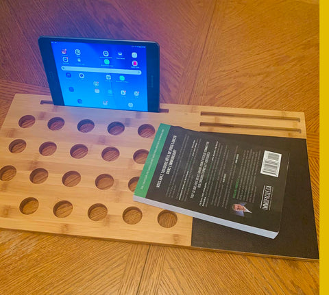 Bamboo laptop knee stand