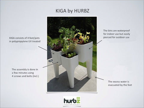 Raised Garden Planter Hurbz, Indoor, Outdoor for Growing Vegetables Flowers, Fruits, Strawberries Herbs - Official Seller in USA and Canada