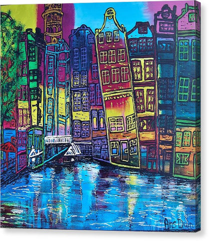 Image of Amsterdam O.z.kolk - Canvas Print