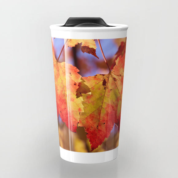 Travel Mugs - Autumn in Canada with Maple leafs