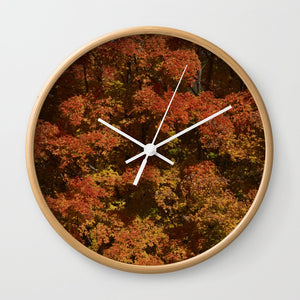 Wall clock - Autumn in Canada