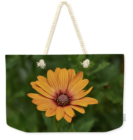 Image of Beautiful Flower - Weekender Tote Bag - 24 X 16 / Natural - Weekender Tote Bag