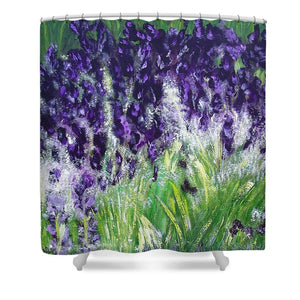 Black Knight Iris - Shower Curtain