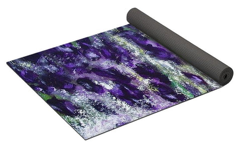Black Knight Iris - Yoga Mat